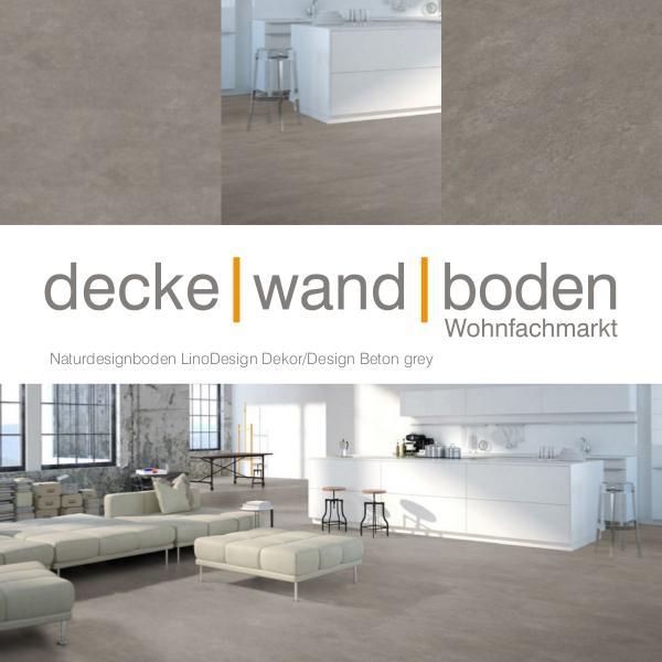 Corpet LinoDesign Linoleum Holz und Stein Designboden dwb Produktinformation LinoDesignStone Beton grey