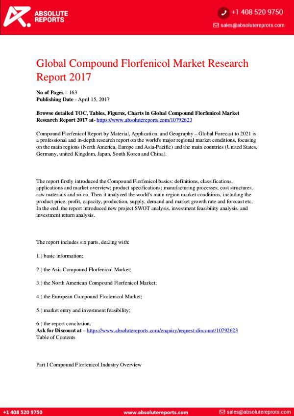 28-07-2017 Compound-Florfenicol-Market-Research-Report-2017