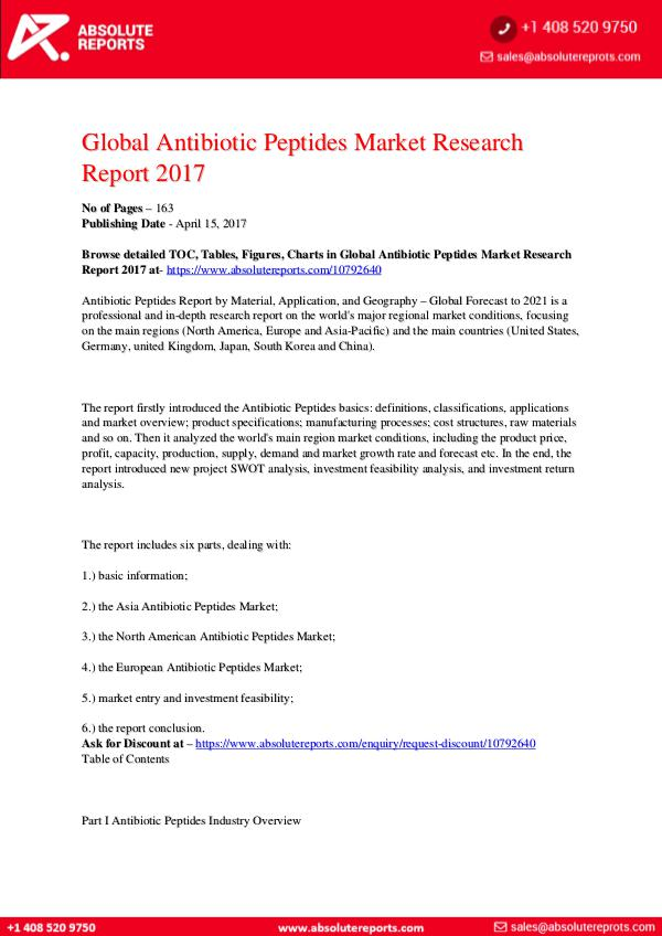 28-07-2017 Antibiotic-Peptides-Market-Research-Report-2017