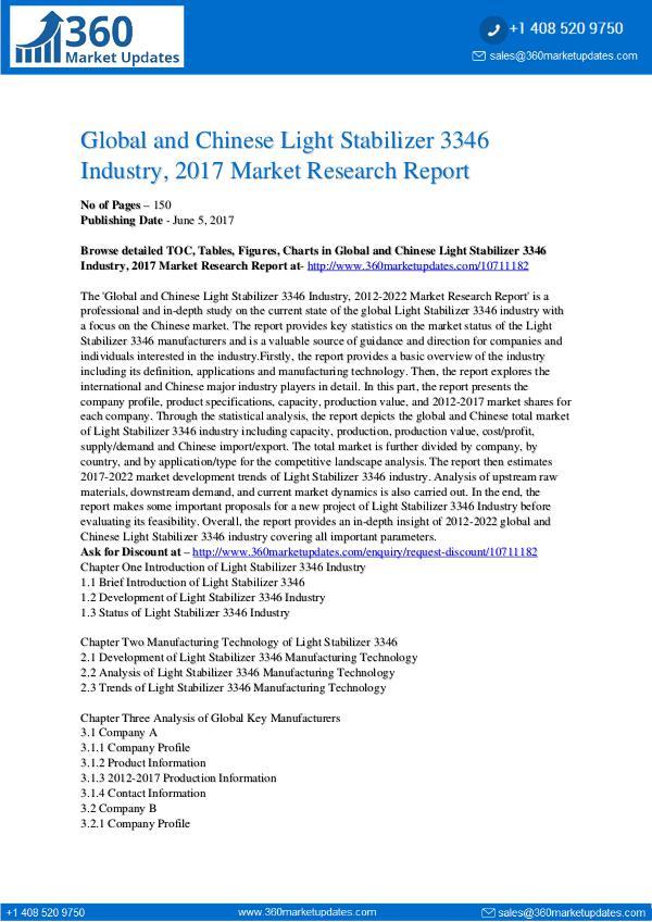 22-06-2017 Light-Stabilizer-3346-Industry-2017-Market-Researc