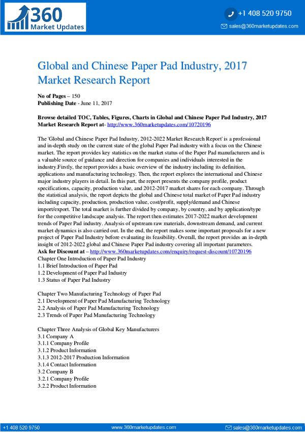 Paper-Pad-Industry-2017-Market-Research-Report