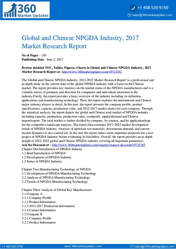 NPGDA-Industry-2017-Market-Research-Report