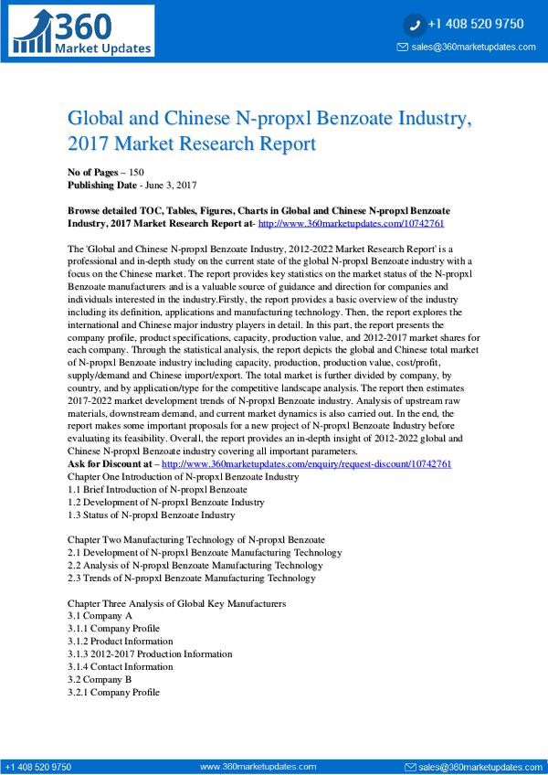 22-06-2017 N-propxl-Benzoate-Industry-2017-Market-Research-Re