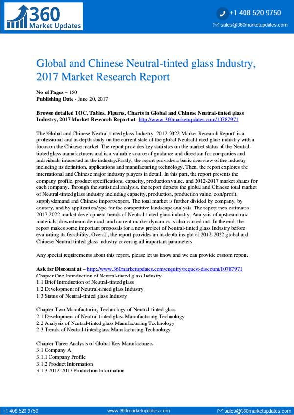 22-06-2017 Neutral-tinted-glass-Industry-2017-Market-Research