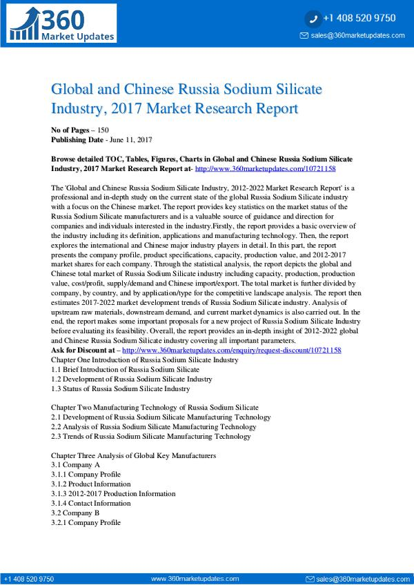 23-06-2017 Russia-Sodium-Silicate-Industry-2017-Market-Resear