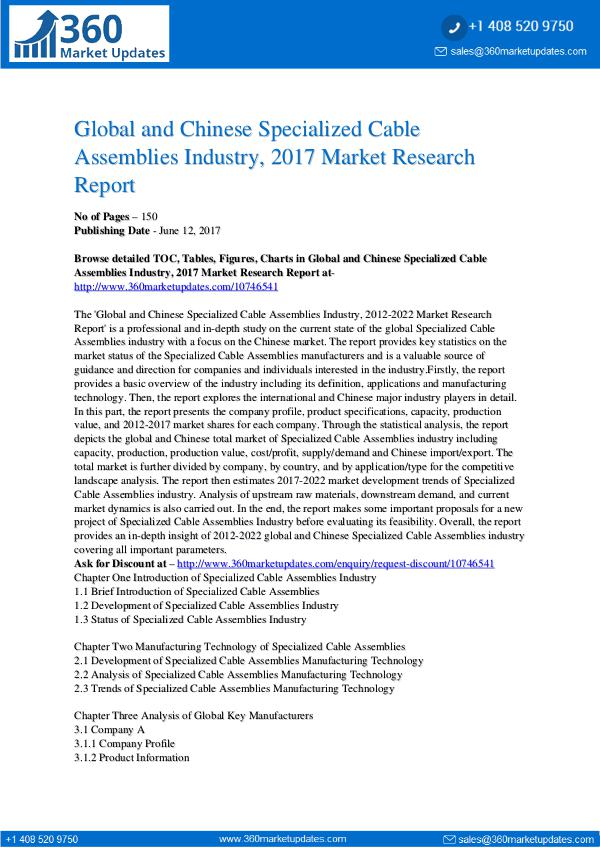 23-06-2017 Specialized-Cable-Assemblies-Industry-2017-Market-