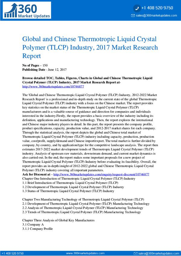 23-06-2017 Thermotropic-Liquid-Crystal-Polymer-TLCP-Industry-