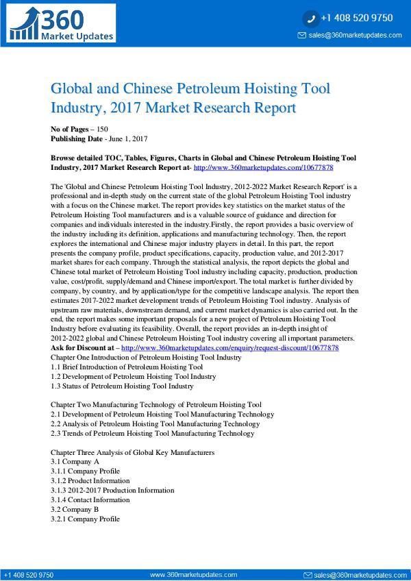 27-06-2017 Petroleum-Hoisting-Tool-Industry-2017-Market-Resea