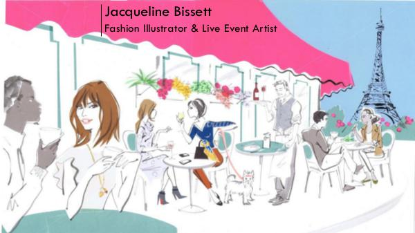 Jacqueline Bissett - Fashion Illustrator & Live Event Artist Jacqueline Bissett