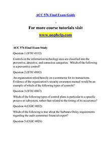 ACC 576 help A Guide to career/uophelp.com