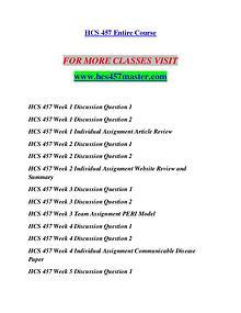 HCS 457 MASTER Let's Do This /hcs457master.com