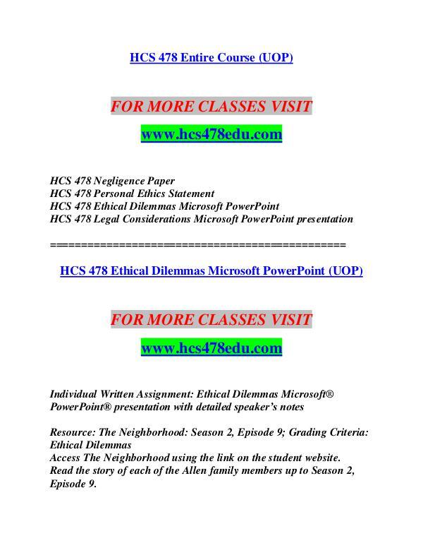 HCS 478 EDU Let's Do This /hcs478edu.com HCS 478 EDU Let's Do This /hcs478edu.com