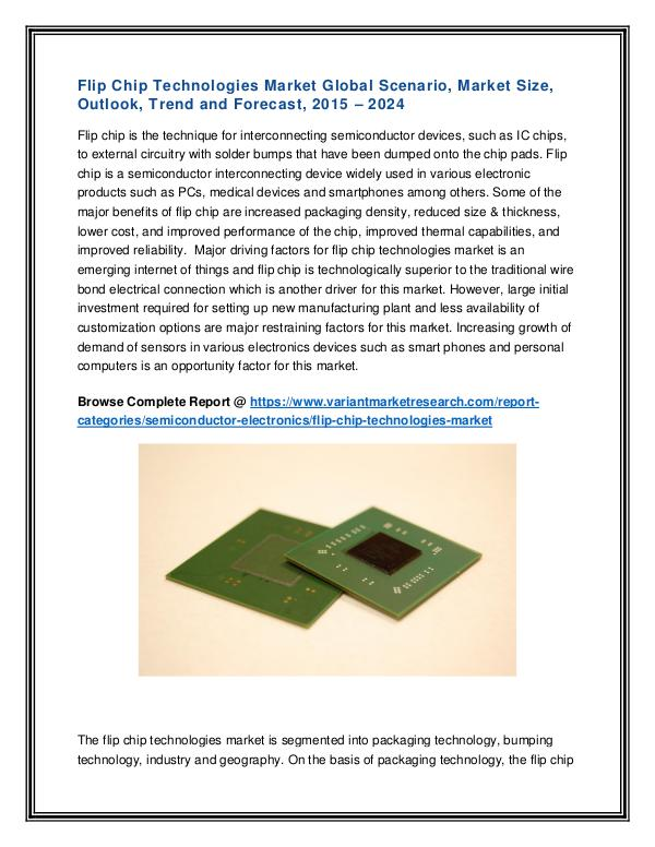 Telematics Market Global Scenario Flip Chip Technologies Market