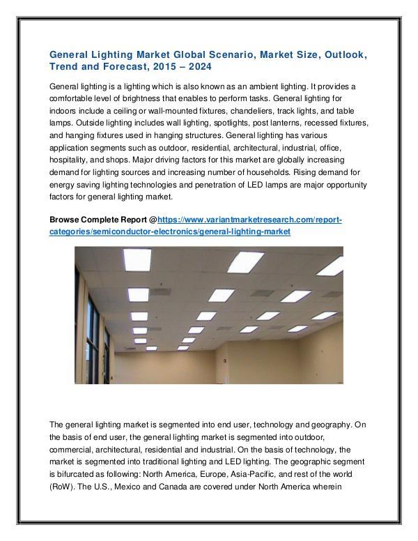 Transplant Diagnostics Market Global Scenario General Lighting Market