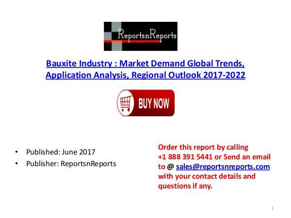 Global Bauxite Cement Market 2017-2022 Growth, Trends and Demands Res Bauxite PDF DOC 3 ( 9 JUNE)