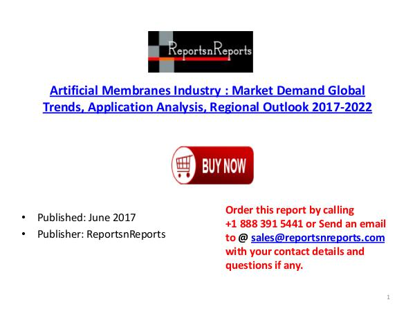 Artificial Membranes Industry Global Market Trends, Share, Size and 2 Artificial Membranes  PDF DOC 1..( 15  JUNE)