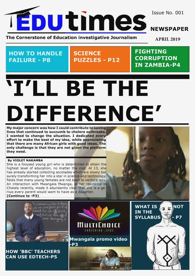 Edutimes Newspaper Edutimes Online Newspaper Issue No 1 (revised 6)