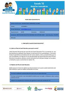 MI PLAN COACH EDUCATIVO TIC