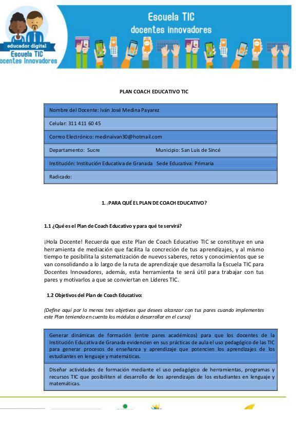 Mi primera revista - Mi Plan Coach_Ivan José Medina Plan_Coach_Educativo_TIC_Ivan_Medina