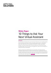 10 Things to Ask Your Next Virtual Assistant