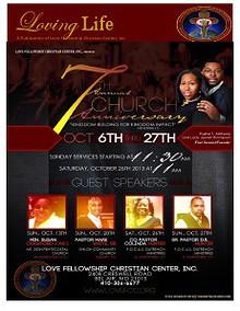 LOVING LIFE... A Publication of Love Fellowship Christian Center, Inc.