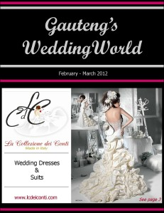 Gauteng's Wedding World Feb-March 2012