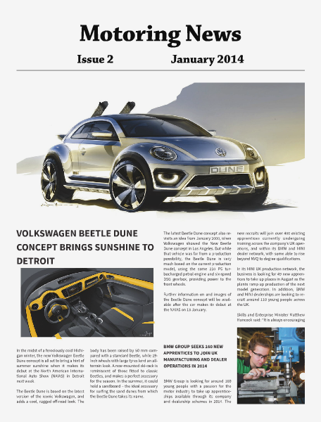 Motoring News Issue 2 Jan2014