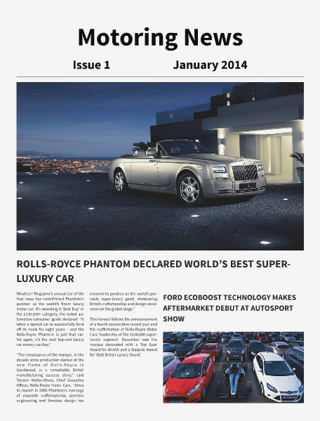 Motoring News Issue January 2014 Issue 1 Jan 2014