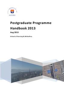 PostQualifying Handbooks Post-Graduate Handbook 2013