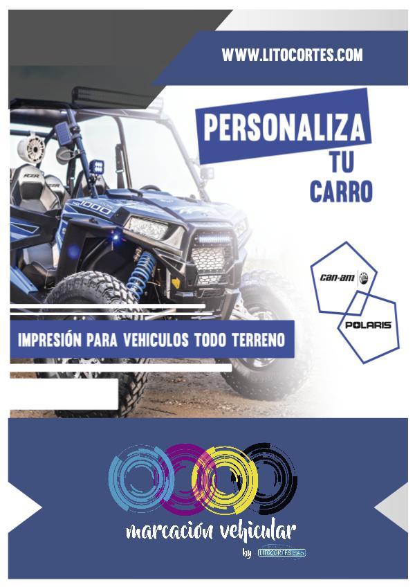 Marcación vehicular Litocortes S.A.S catalogo RZR