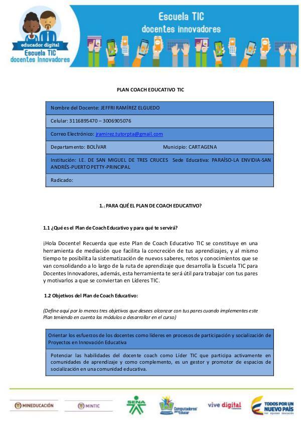 Plan Coach Educativo TIC JRamírezE Plan_Coach_Educativo_TIC_JRamirezE