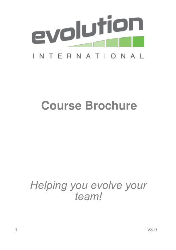 Evolution International Ltd Course Brochure V3.0