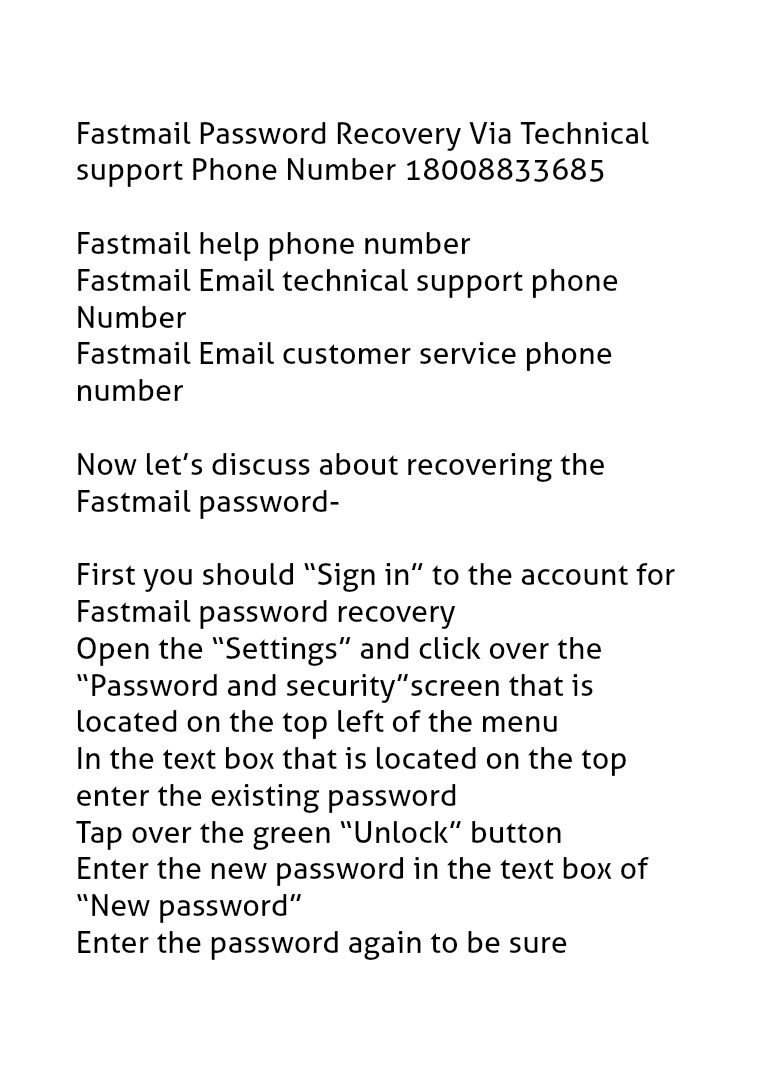 Fastmail Password Recovery 18002520044 Technical support Phone Number Fastmail Troubleshooting