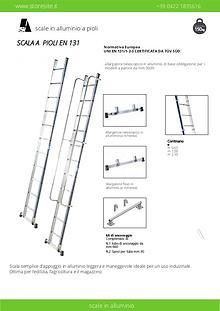 Scale in alluminio in appoggio semplici