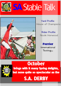 S.A. Stable Talk - South Africa's premier on-line Equestrian Magazine October 2013