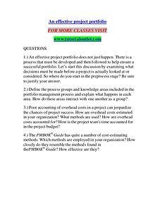 AN EFFECTIVE PROJECT PORTFOLIO/ TUTORIALOUTLET DOT COM