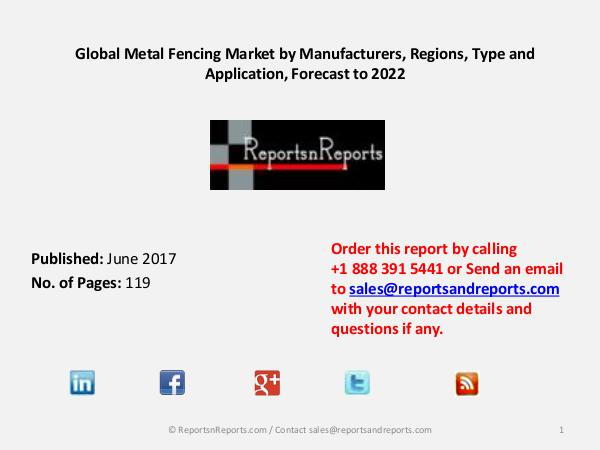 Automotive Connectors Market 2017: Global Industry Growth and Key Metal Fencing Market 2017