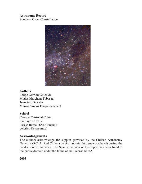 Proyecto Astronómico Constelación Cruz del Sur southern_cross_colegio_cristobal_colon