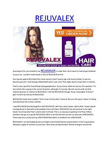 REJUVALEX - Entirely risk free and totally natural