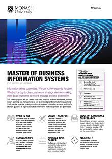 Master of Business Information Systems