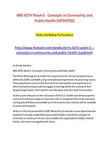 NRS 427V Week 5   Concepts in Community and Public Health [UPDATED]