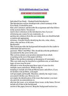 MAN 4350 INDIVIDUAL CASE STUDY/ TUTORIALOUTLET DOT COM