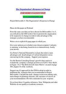 THE ORGANIZATION'S RESPONSE TO CHANGE/ TUTORIALOUTLET DOT COM