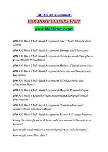 BIO 330 RANK Keep Learning /bio330rank.com