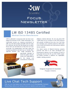 LW Scientific 2013 3rd Quarter Focus Newlsetter 3rd Quarter