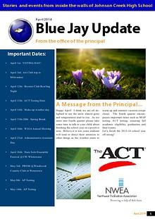 Johnson Creek High/Middle School Newsletter