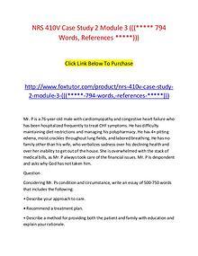 NRS 410V Case Study 2 Module 3 ((( 794 Words, References )))