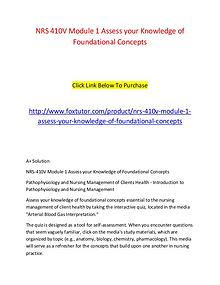 NRS 410V Module 1 Assess your Knowledge of Foundational Concepts