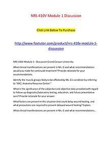 NRS 410V Module 1 Discussion