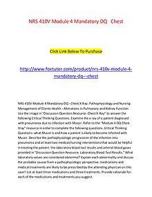 NRS 410V Module 4 Mandatory DQ   Chest